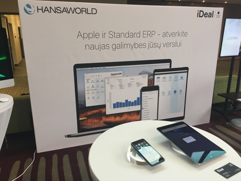 HansaWorld, iDeal stand and devices