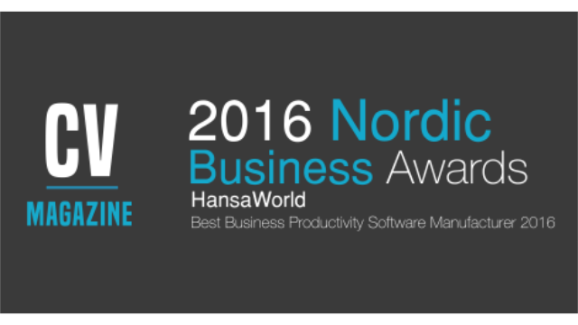 2016 CV Nordic Business Awards
